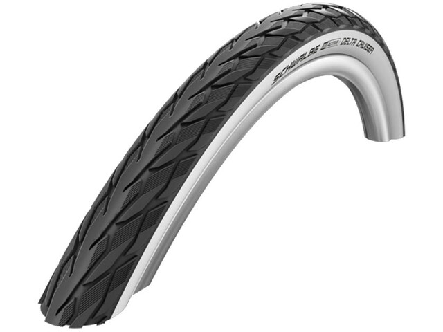 "SCHWALBE Delta Cruiser Active K-Guard Clincher Tyre 26"", black/white"